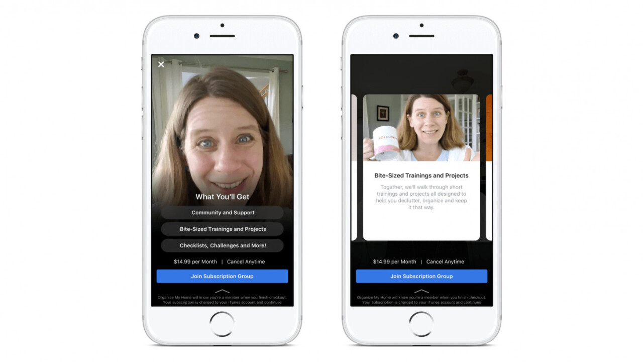 Facebook is testing paid subscription options for private groups