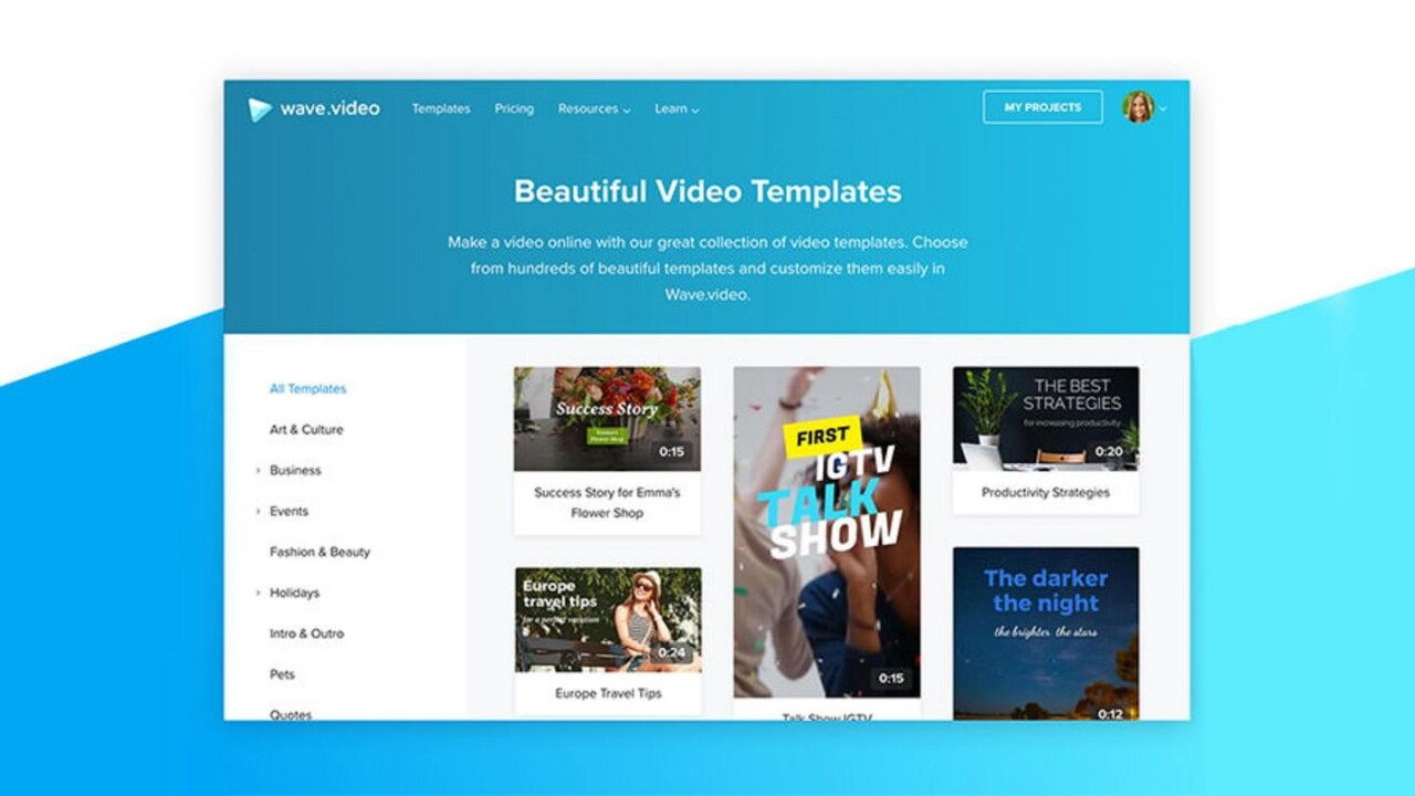 Video for all — so give it to them easily with a year of Wave.Video at over 90% off