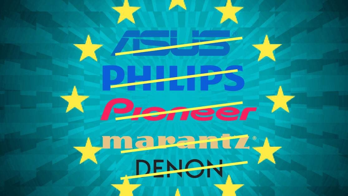 EU fines ASUS, Philips, Pioneer, and Denon & Marantz €111M for breaching EU antitrust rules
