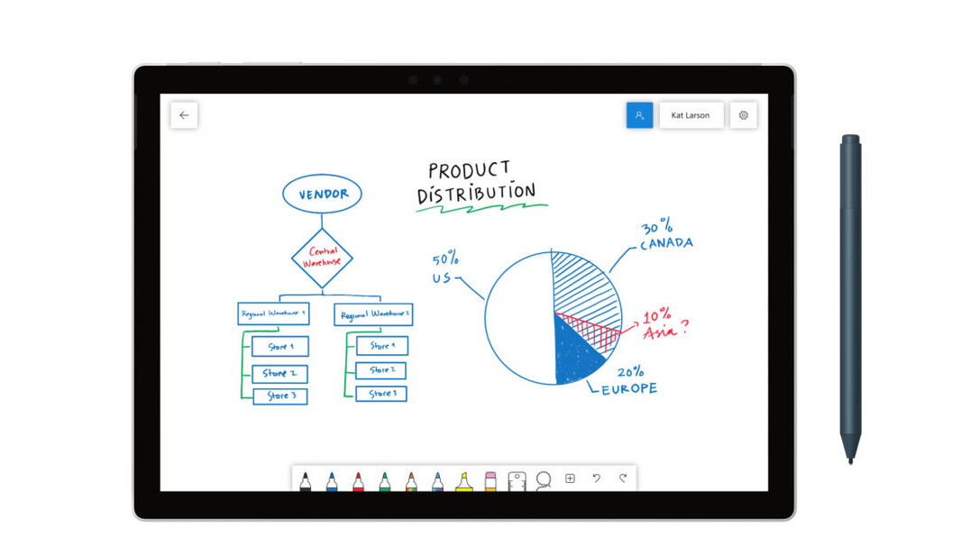 Microsoft's free Whiteboard app for Windows is a dead-simple way to brainstorm with your team