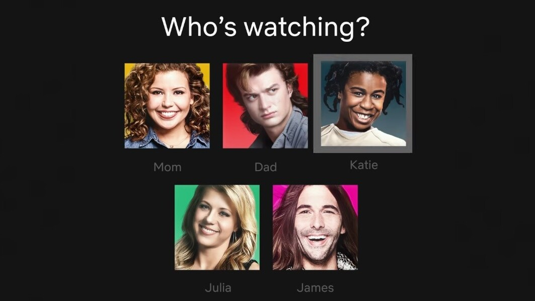 Netflix revamps its profile icons with colors and characters