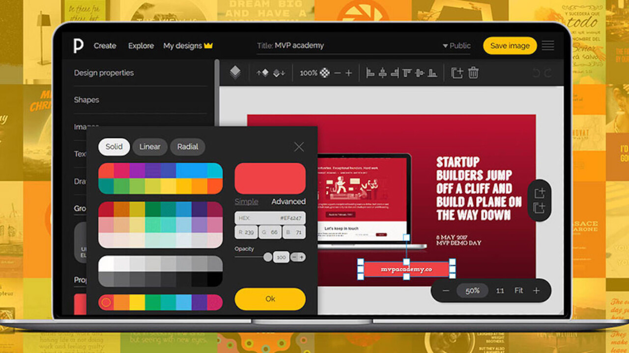 Need a design? You WON'T need a graphic designer with PixTeller Pro