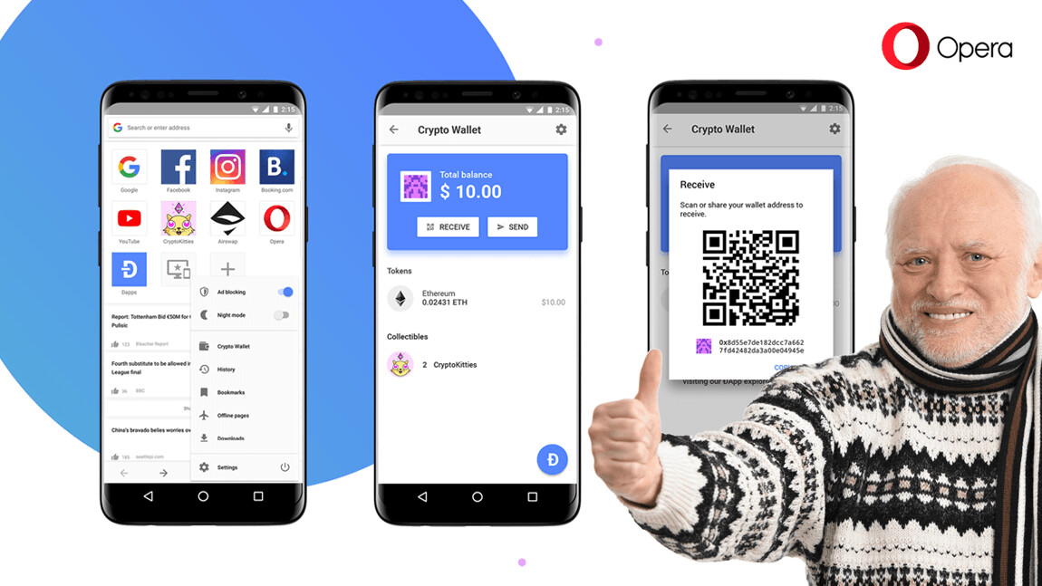 Opera is expanding its suite of cryptocurrency tools with a built-in wallet