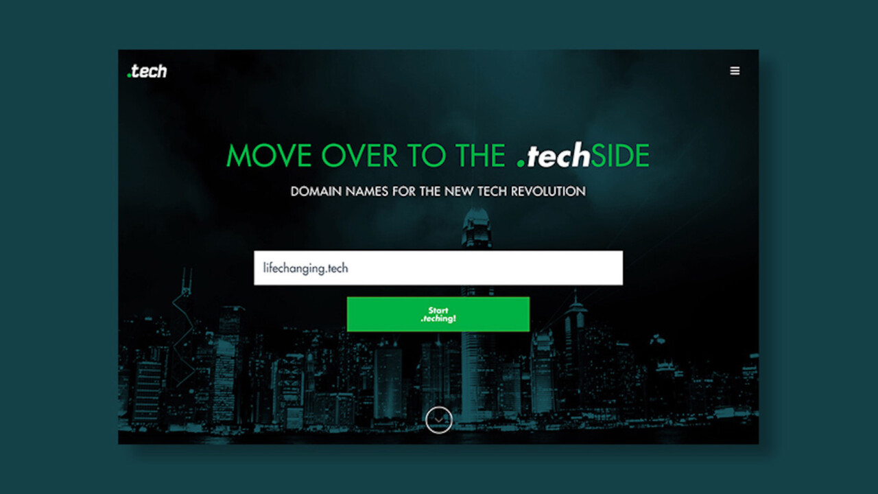 .com is played out. Join the .tech wave for less than $5