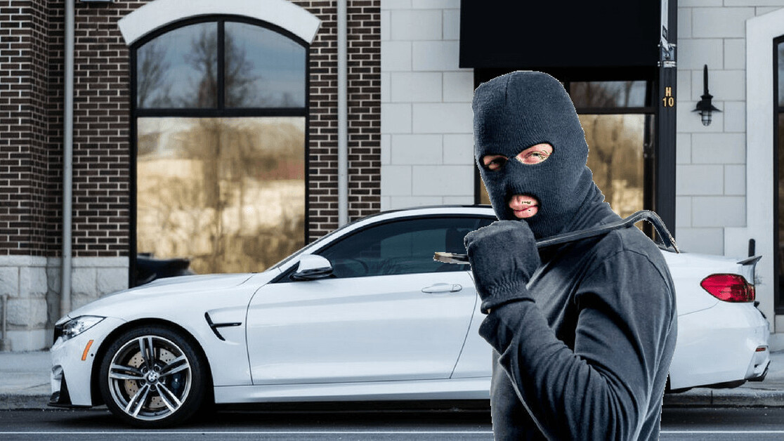 Dutch car thieves ingeniously hacked their way into this BMW