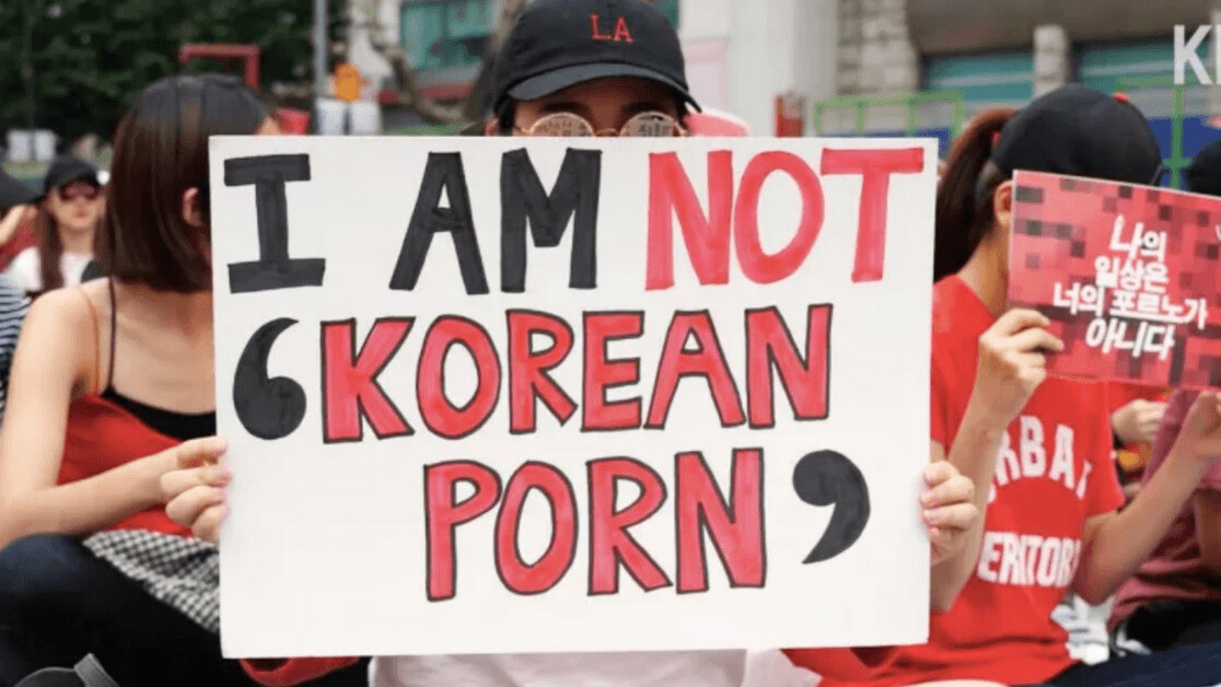 South Korean women protest against growing epidemic of spycam porn