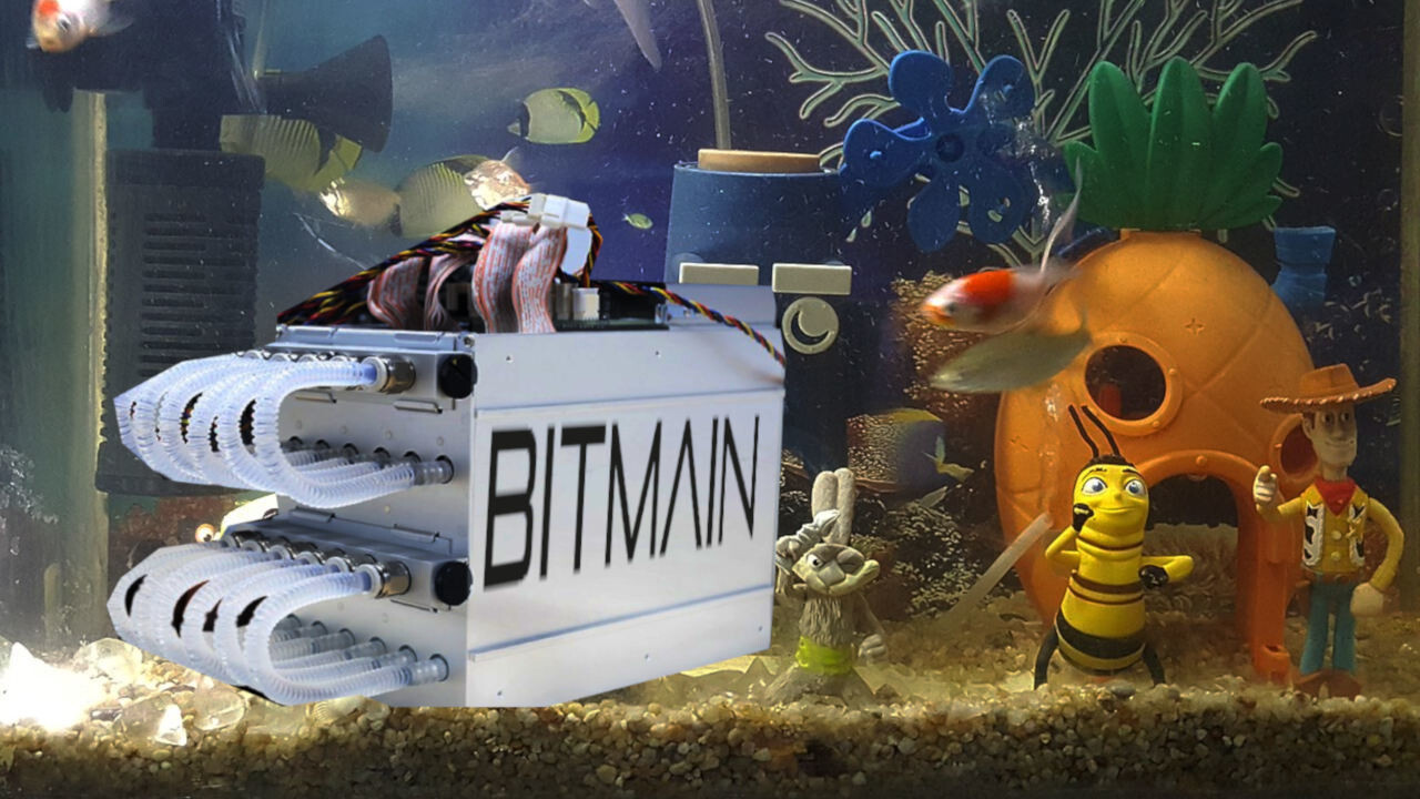 Bitmain's new water-cooled cryptocurrecy miner is obvs