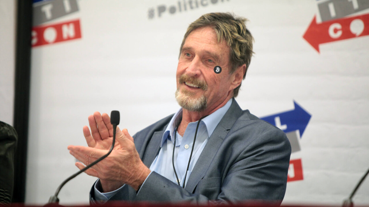 John McAfee's 'unhackable' cryptocurrency wallet has been hacked (again)
