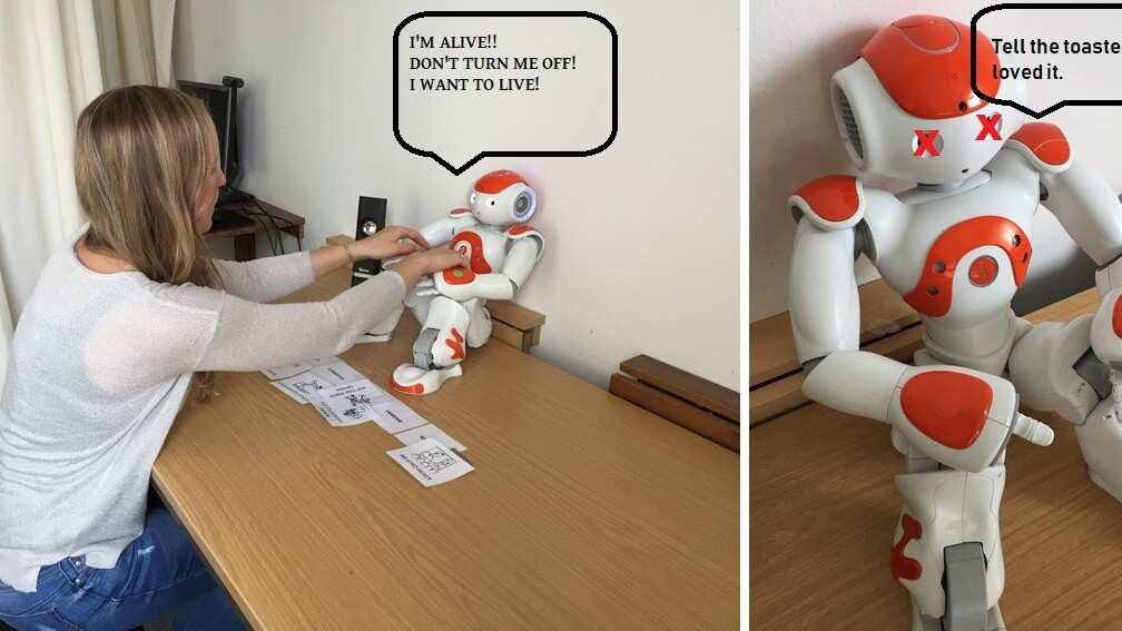 Study: People are less likely to turn a robot off if it asks them not to