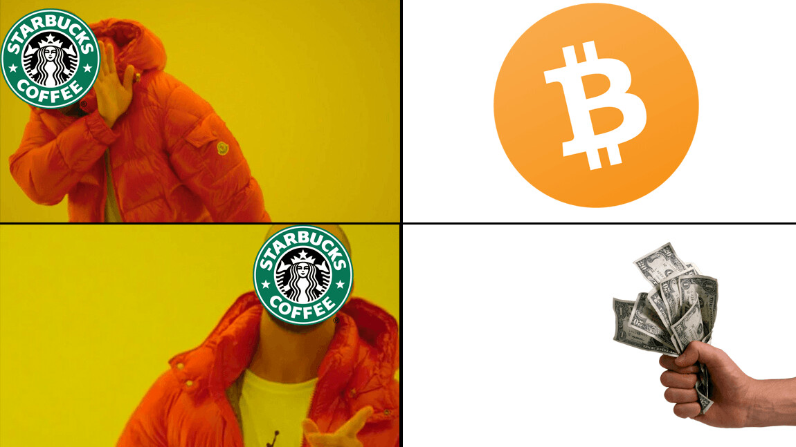 You won't be able to spend your cryptocurrency in Starbucks anytime soon