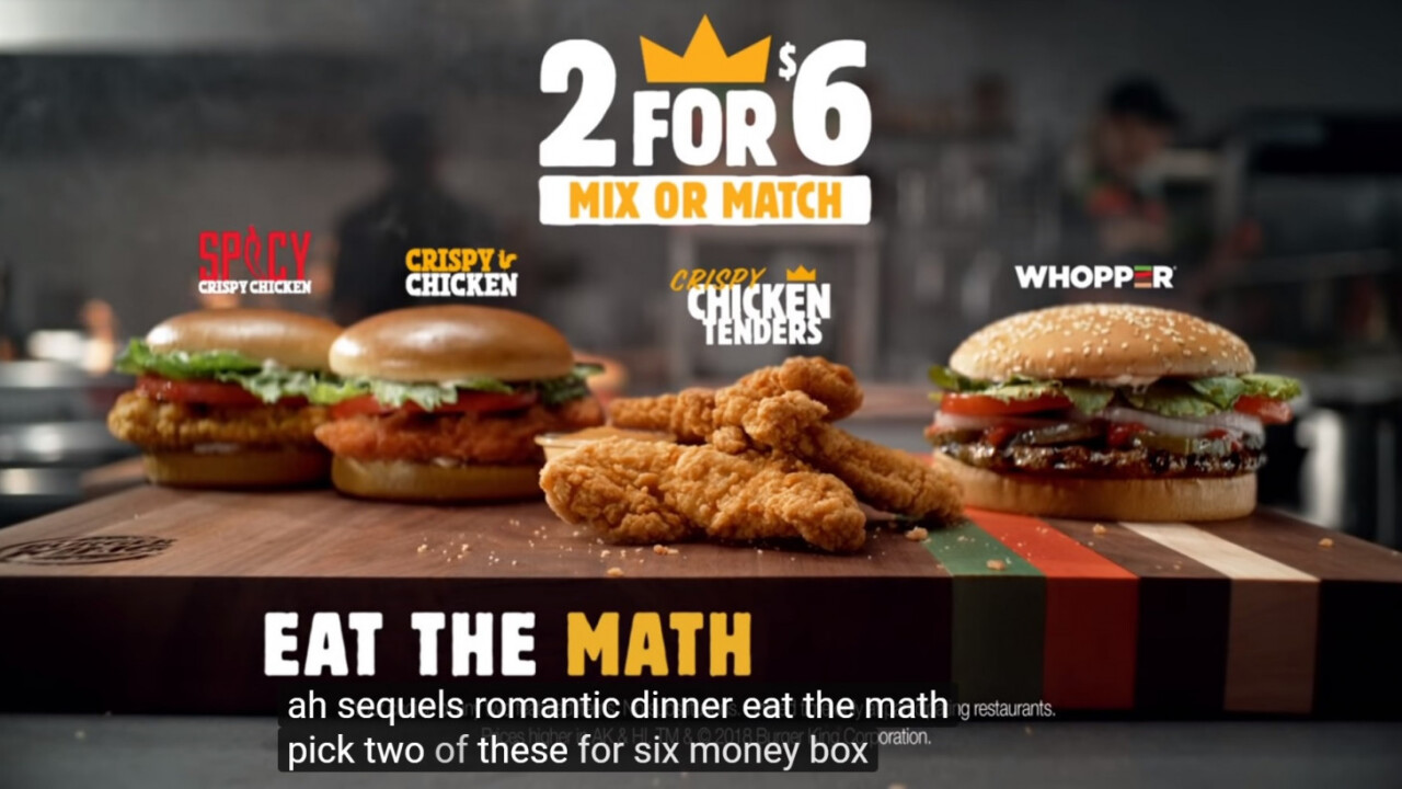 Burger King trolls artificial intelligence with new ads