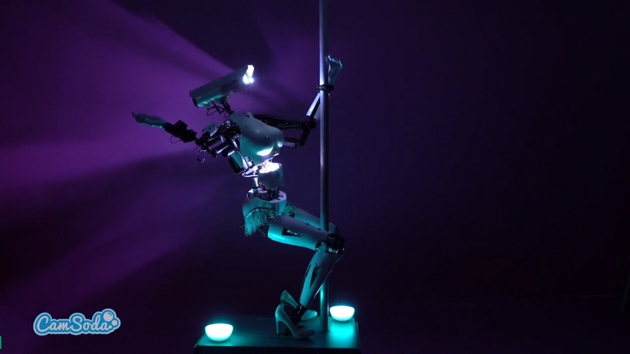 This robot used to be an art exhibit – now it's a webcam model