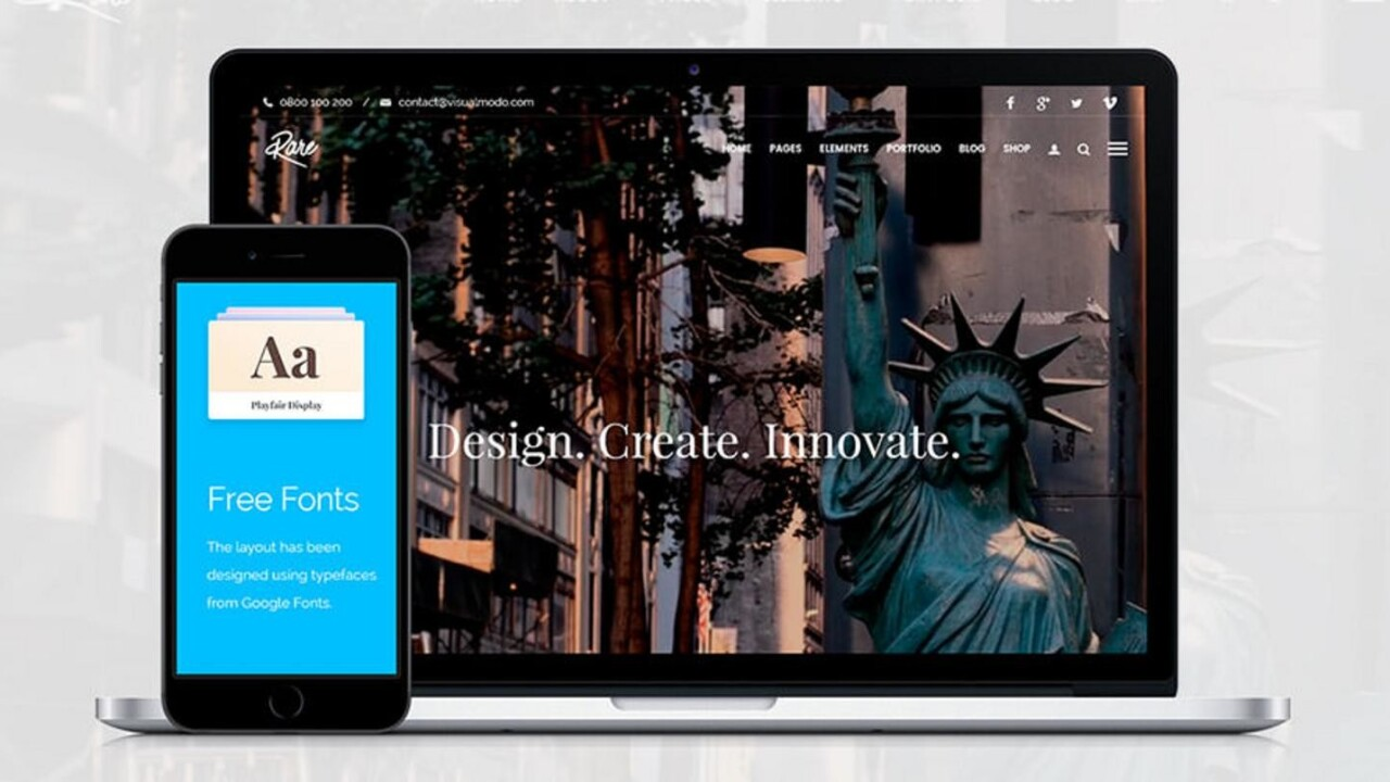 Create a finished website in minutes with Visualmodo WordPress Themes, now just $39