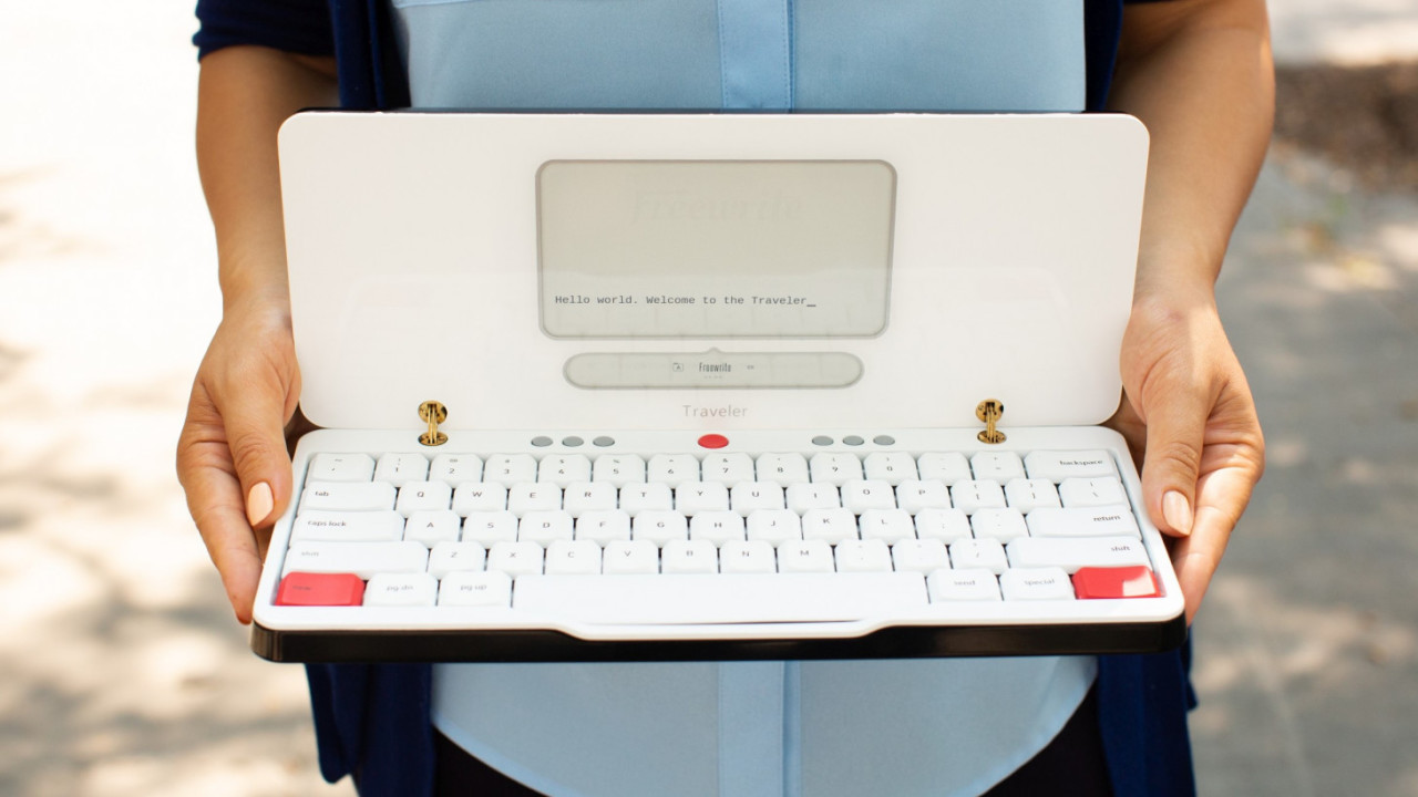 The Freewrite Traveler is the distraction-free portable typewriter I