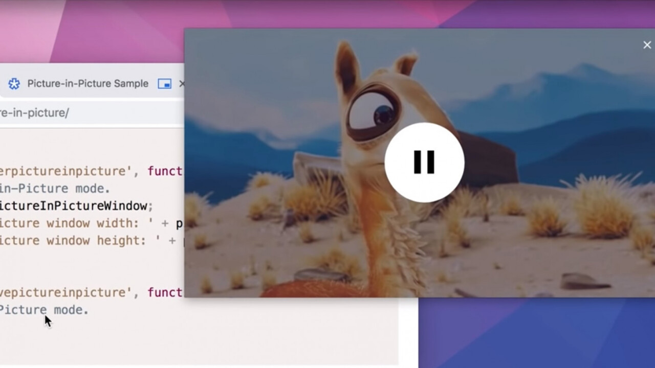 Chrome 70's best new feature is picture-in picture
