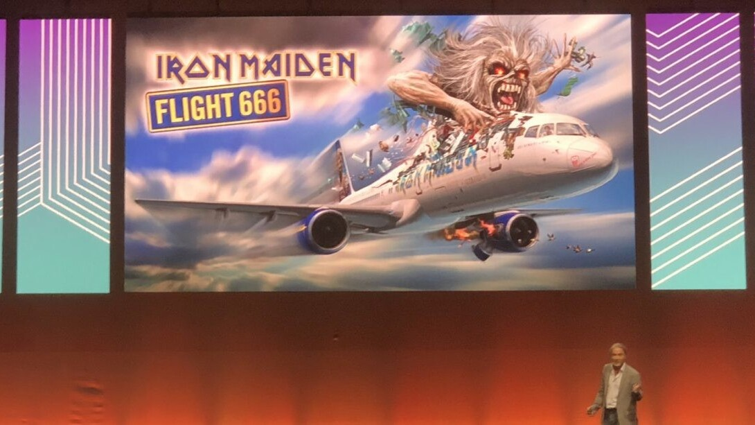Iron Maiden's Bruce Dickinson steals the show with an inspirational keynote