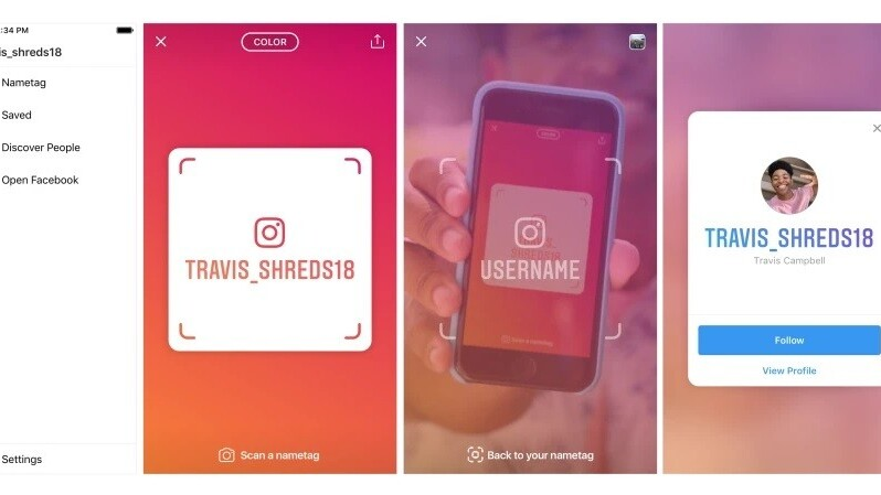 Instagram nametags let you find users without remembering their names