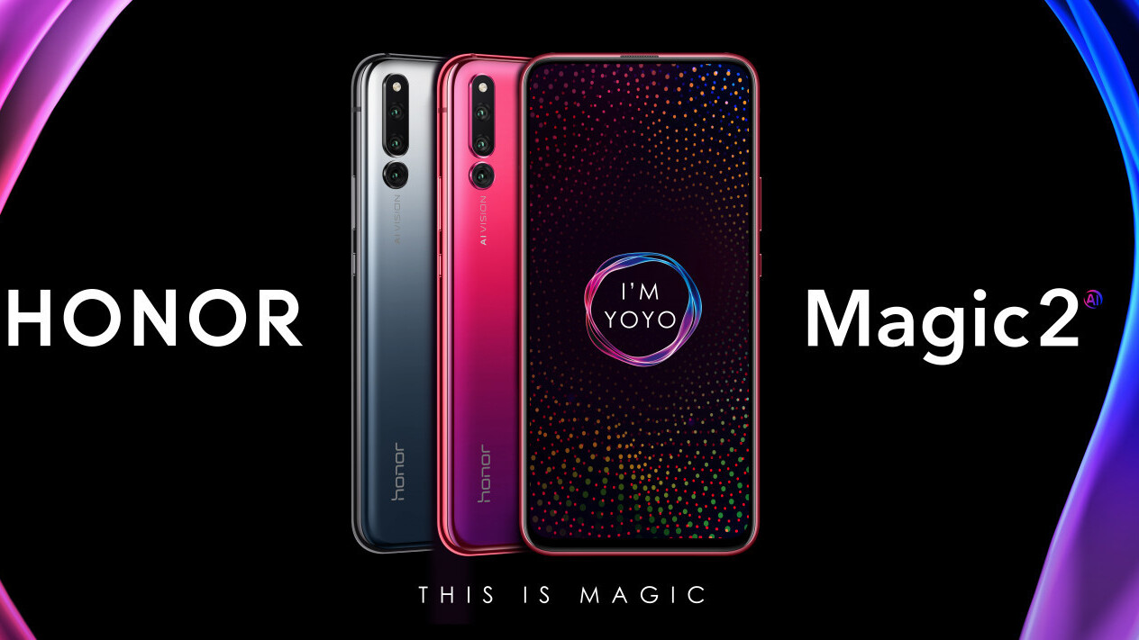 The Honor Magic 2 packs six cameras into an all-screen slider phone design