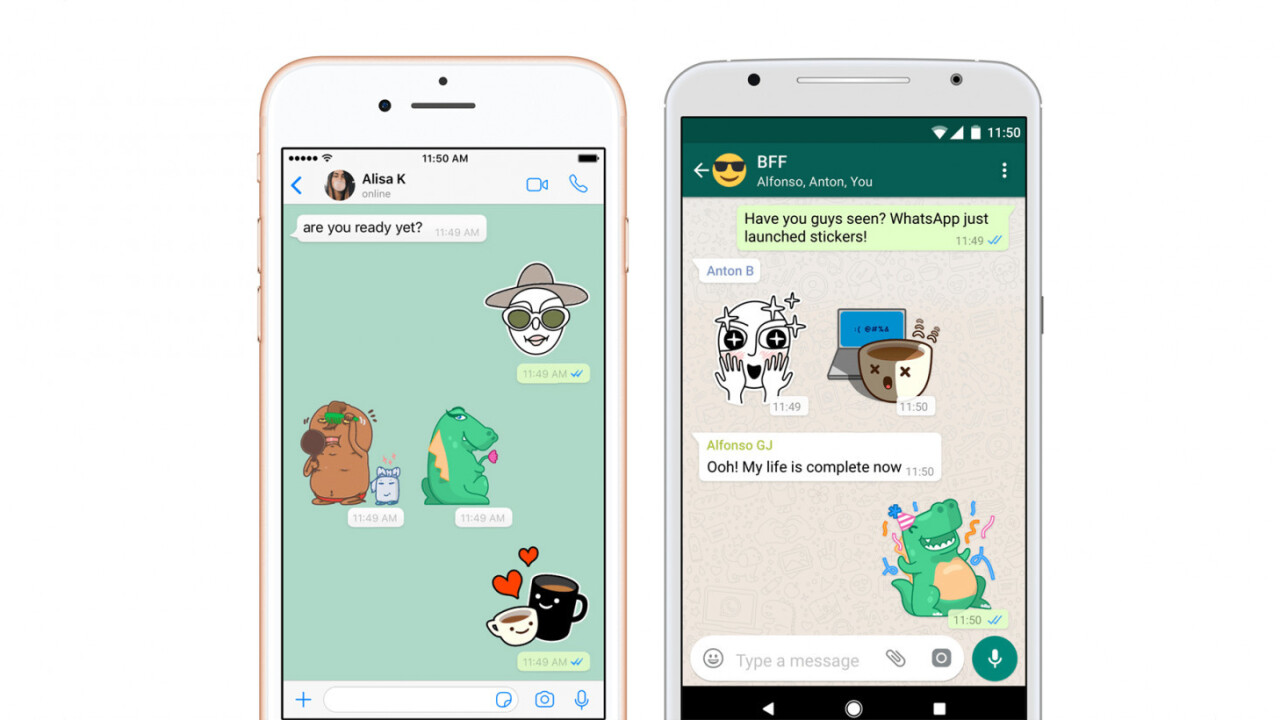 WhatsApp introduces stickers at last