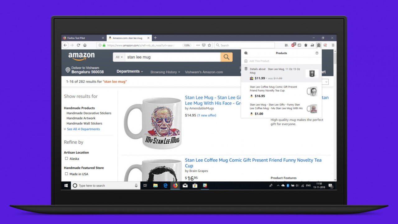 Firefox gets a price comparison tool just in time for your holiday shopping