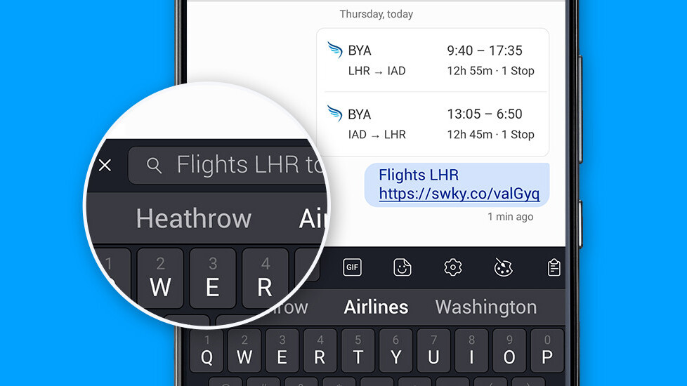 SwiftKey adds a surprisingly handy search bar to its Android keyboard