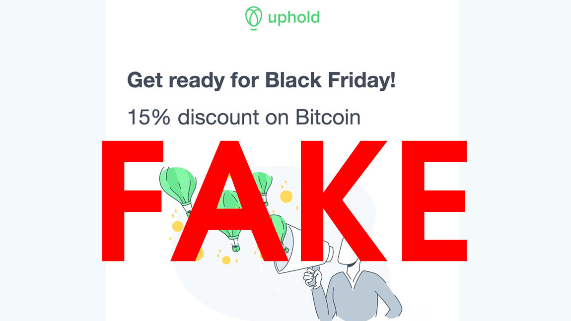 Don't fall for the Black Friday-themed Bitcoin giveaway scams