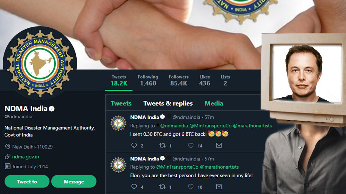 India's national disaster authority hacked to promote Bitcoin scams on Twitter