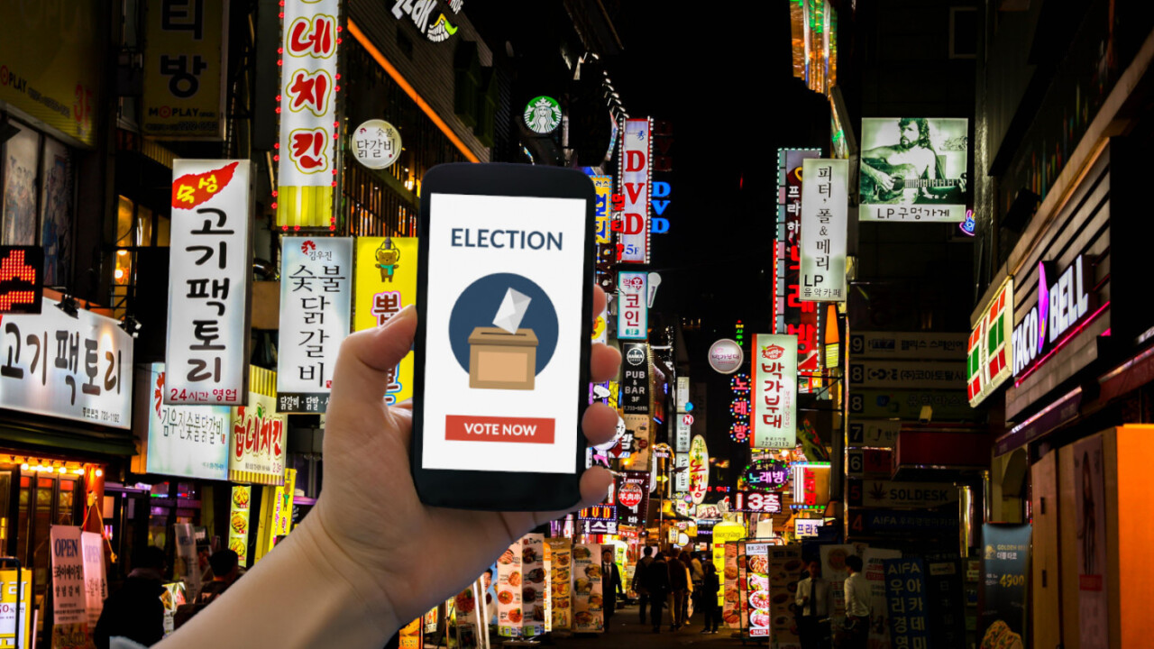 South Korea will trial a blockchain-based voting system