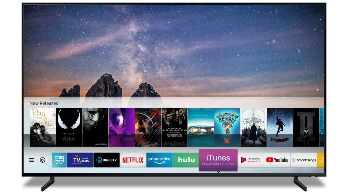 Samsung is bringing an iTunes app to its smart TVs soon