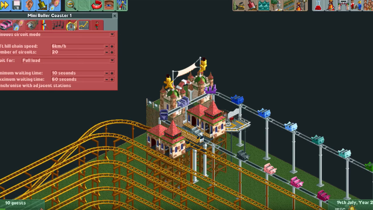 Roller Coaster Tycoon enthusiast created a coaster that takes 12 years (and real bladder control) to ride