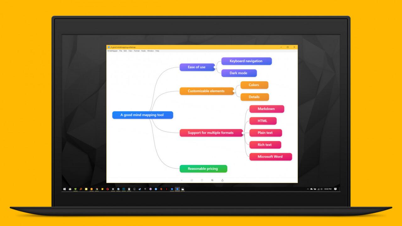 WriteMapper 2 is a flexible, dead-simple desktop app for mind mapping