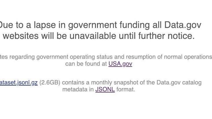 Trump's government shutdown cut off access to crucial public data