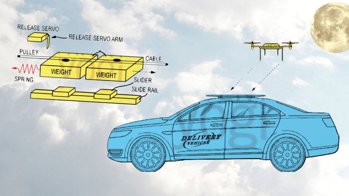 Full moon patents: Disney's acrobatic robots and Ford's drive-by drone deliveries
