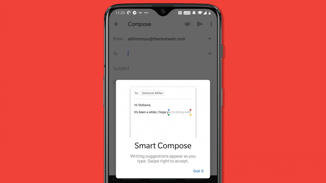 Gmail's Smart Compose feature opens up to more Android phones – here's how to get it