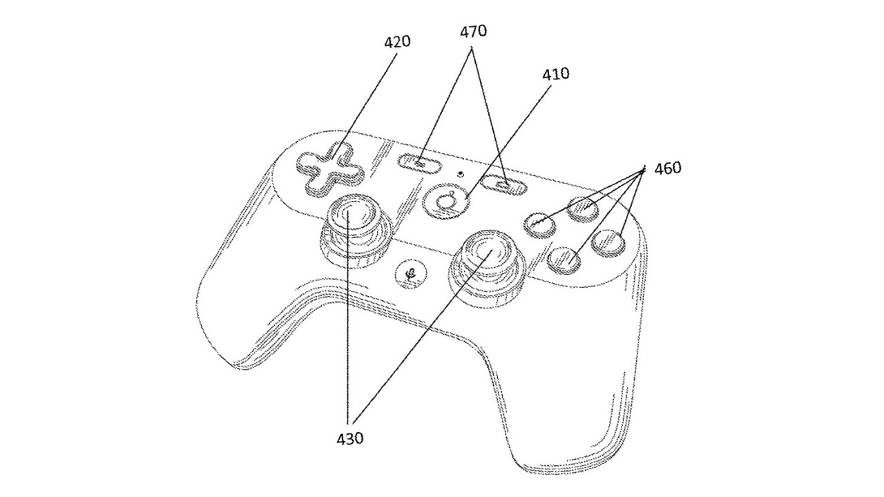 Google's gamepad patent hints at its plans for Project Stream