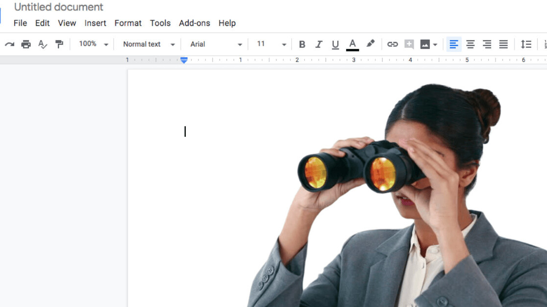 No, viewing publicly shared Google Docs don't reveal your identity