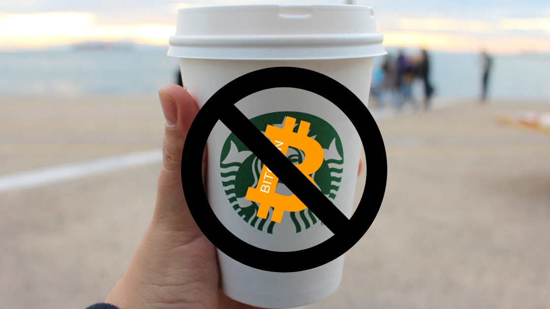No, Starbucks is not accepting Bitcoin 😞