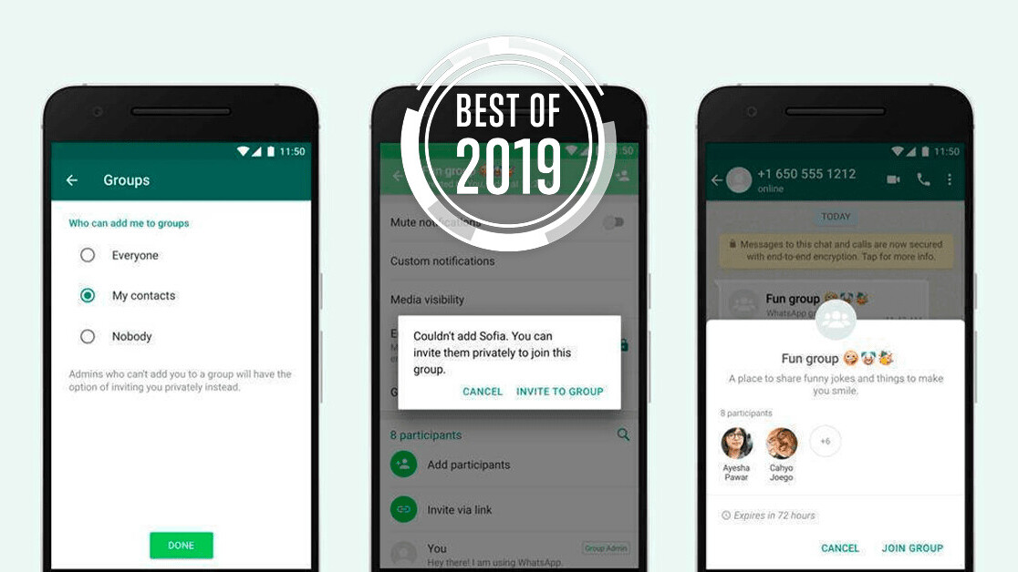 [Best of 2019] WhatsApp finally lets you prevent people from adding you to their shitty groups