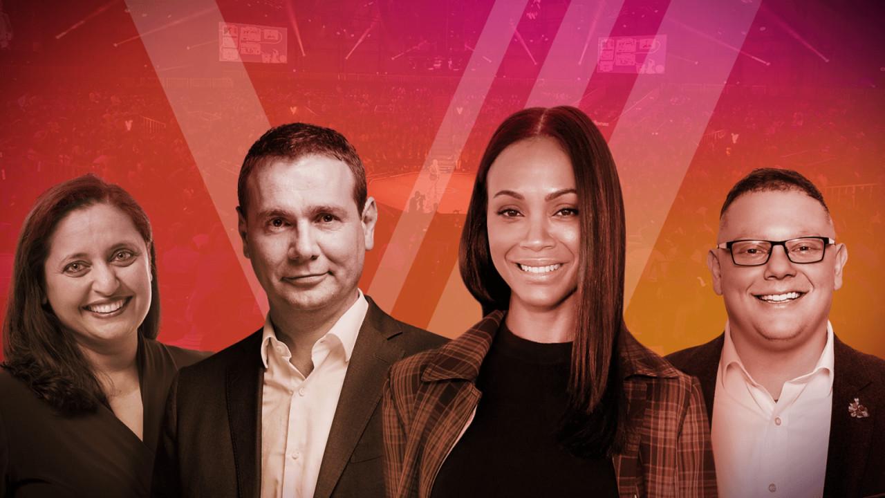 Zoe Saldana joins panel to judge the Chivas Venture Final at TNW2019