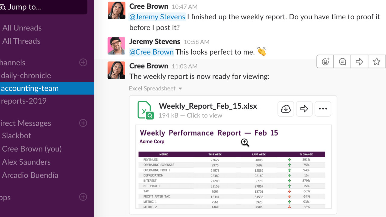 Slack now lets you preview documents within the app (and plays nice with Office 365!)