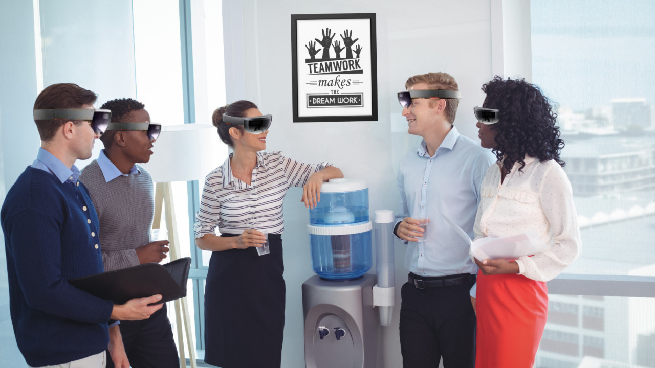 Inside the company building holographic offices ….. in a holographic office