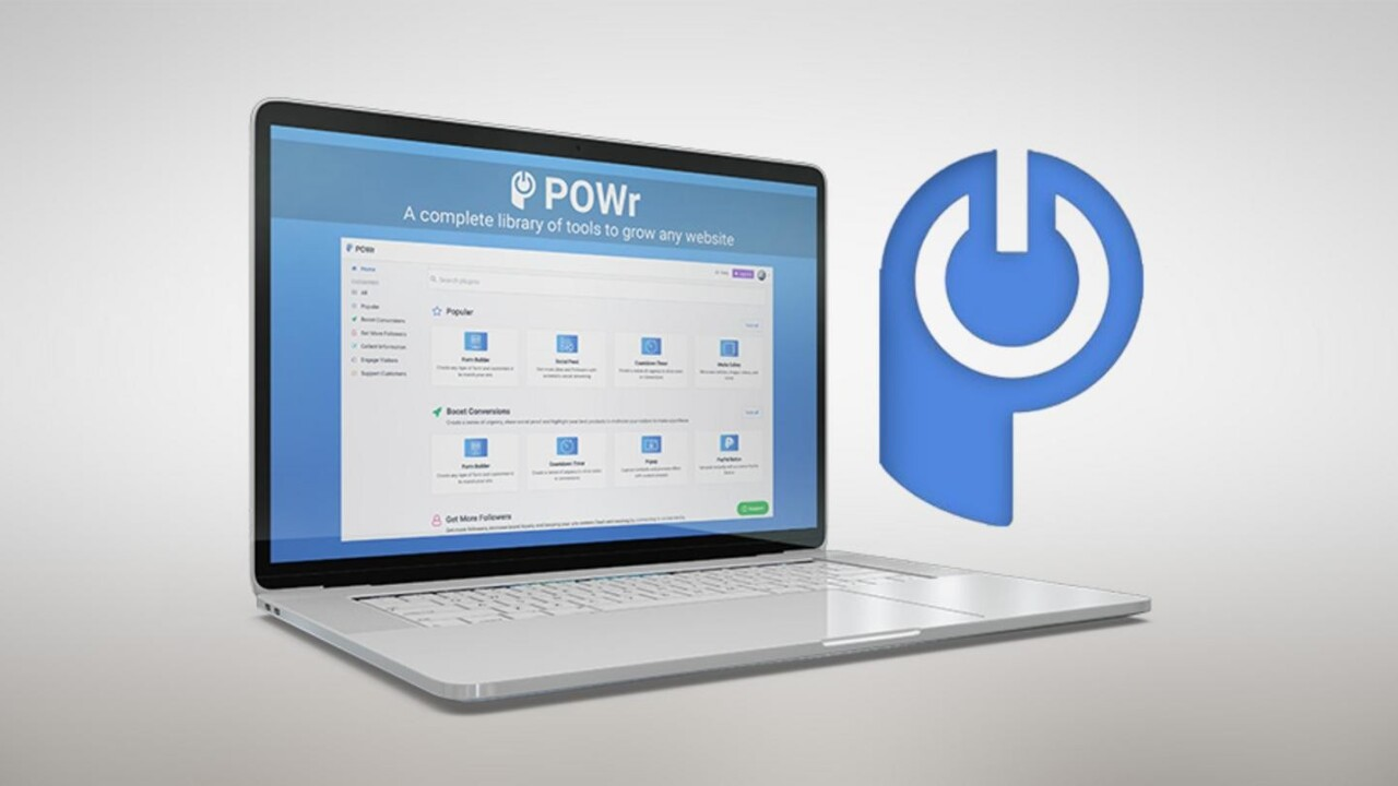 POWr can outfit your site with a full set of growth tools for only $35
