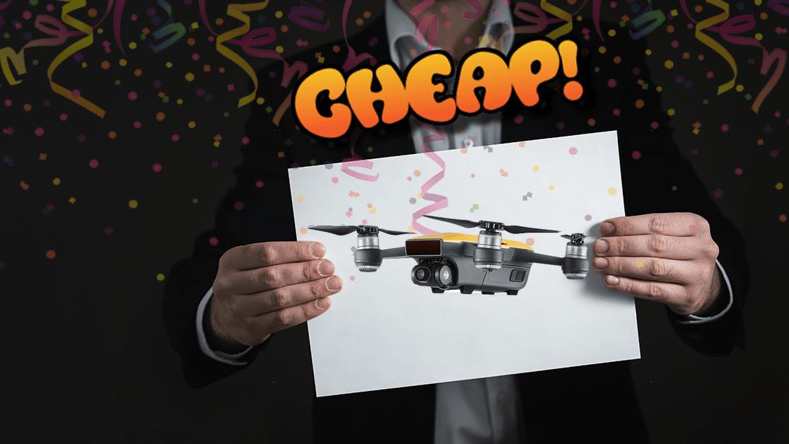 CHEAP: A bird? A plane? NO — it's 56% off a DJI Spark Drone