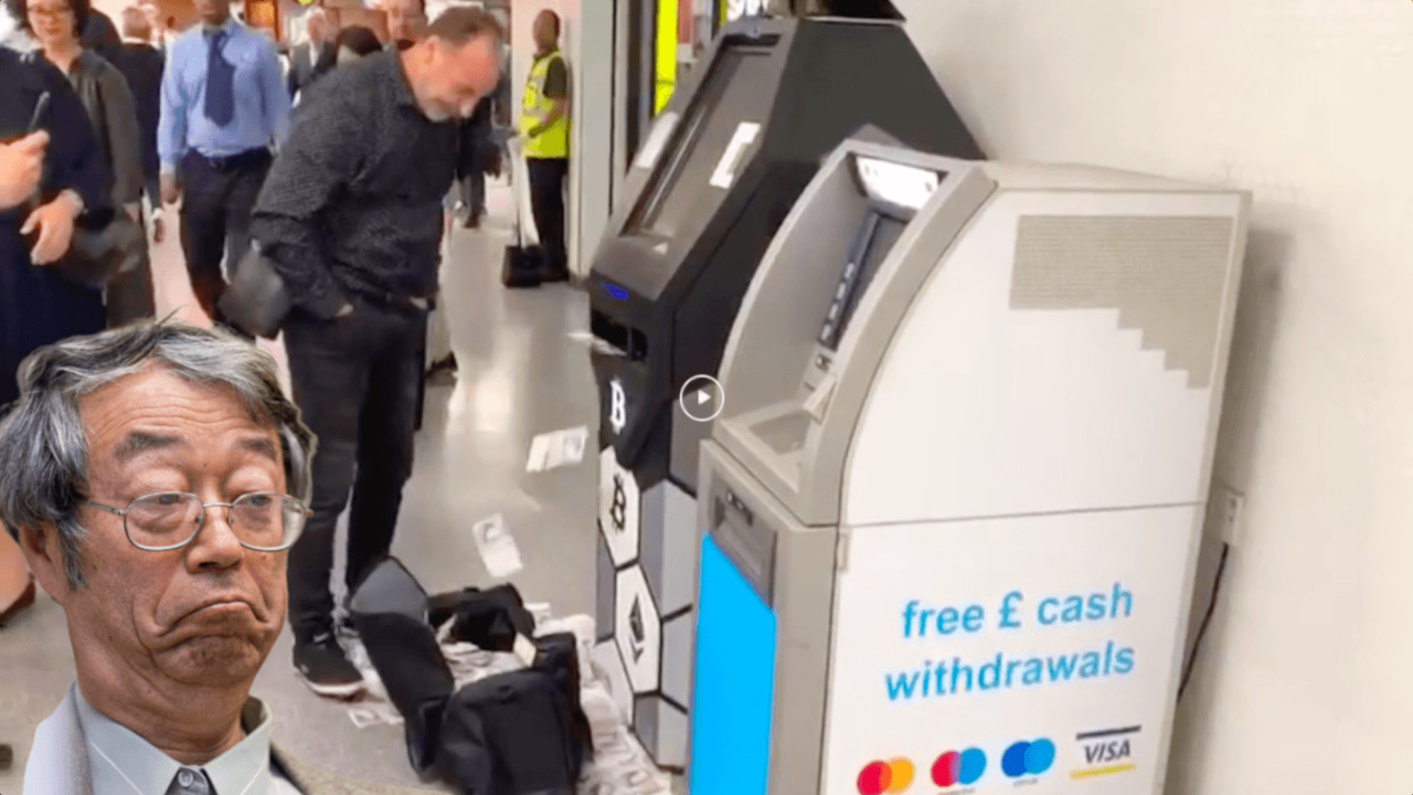 WATCH: Bitcoin ATM showers London's Bond Street station in