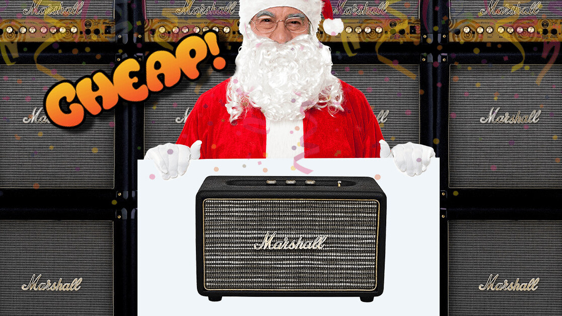 CHEAP: Blast tunes like a rock god with 54% off a Marshall Acton Bluetooth speaker