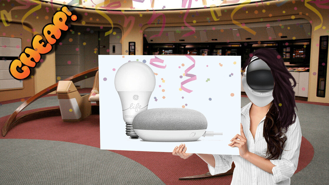 CHEAP: Pretend you live on a spaceship with this Google Smart Light Starter Kit for $35
