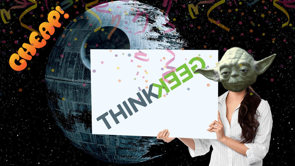 CHEAP: EVERYTHING on ThinkGeek is half price, so move fast!