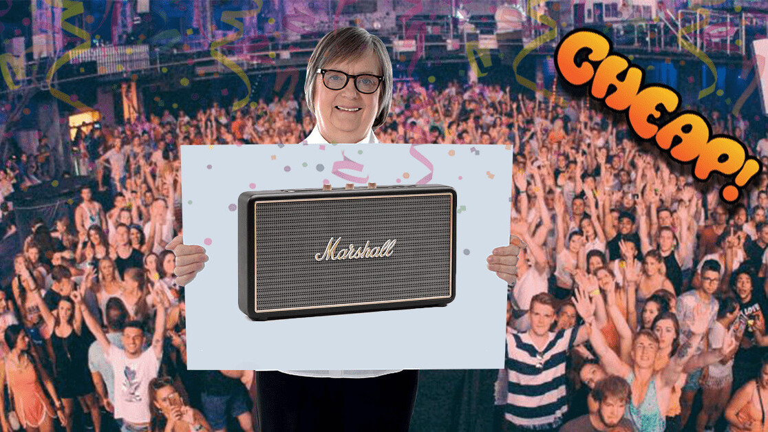 CHEAP: This is a quiet place — shame if someone ruined it with THIS $109 MARSHALL SPEAKER
