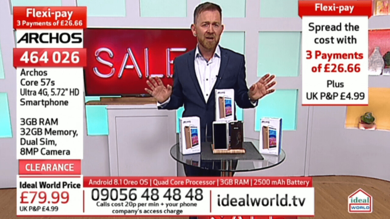 Teleshopping channels are selling smartphones with misleading, high