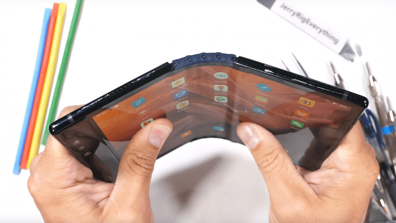 Watch what happens when you bend a foldable phone past its breaking point